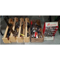 5 WOOD TOOL BOXES & CONTENTS