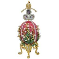 1898 Lilies of the Valley Faberge-Inspired Egg 8""