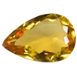 45.90 Ct EGL Certified Pear Shape Yellow Citrine Gemstone