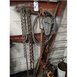 LOT OF ASSORTED CHAINS, SLINGS AND MORE
