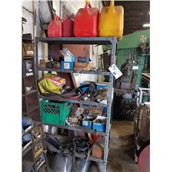 RACK AND CONTENTS INC. GAS CANS, BUNGEES, FACE MASKS AND MORE
