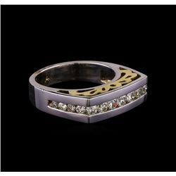 1.08 ctw Diamond Ring - 14KT Two Tone Gold