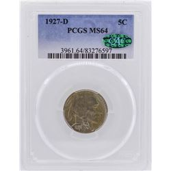 1927-D Buffalo Nickel Coin PCGS MS64 CAC