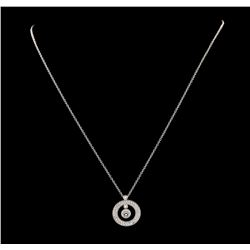 Roberto Coin 0.71 ctw Diamond And Ruby Pendant & Chain - 18KT White Gold
