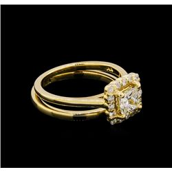 14KT Yellow Gold 0.91 ctw Diamond Wedding Set
