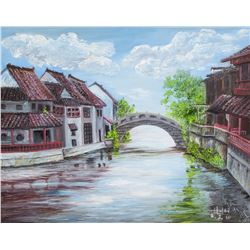 Chinese Artist Oil on Canvas Watertown 2015