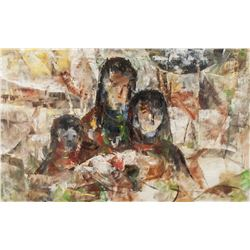 SHOO CHING WAN 20th Century Chinese Oil on Canvas
