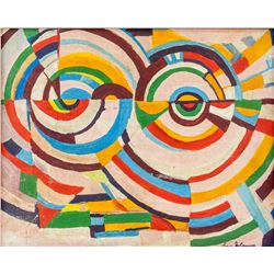 SONIA DELAUNAY French 1885-1979 Oil on Canvas