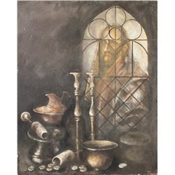 Hungarian XX Oil on Canvas Still Life