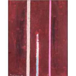 BARNETT NEWMAN US 1905-1970 Oil on Canvas Abstract