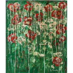 CY TWOMBLY American 1928-2011 OOC Abstract