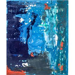 HELEN FRANKENTHALER US 1928-2011 Oil on Canvas