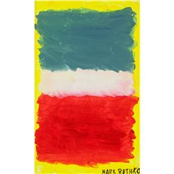 MARK ROTHKO American 1903-1970 Oil on Canvas