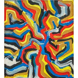 SOL LEWITT American 1928-2007 Oil on Canvas