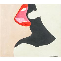 Signed WESSELMANN Oil on Canvas