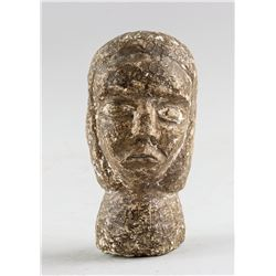 Stone Carved Woman Head Bust