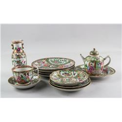 13 PC Chinese Export Famille Rose Porcelain Set