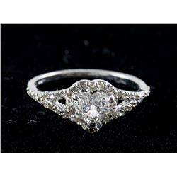 0.40ct Heart Cut Diamond Ring CRV $4500