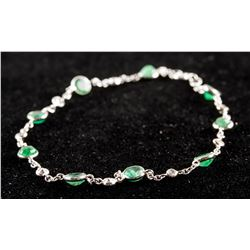 3.0ct Emerald & 0.40ct Diamond Bracelet CRV $2240