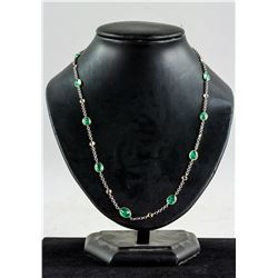 9.0ct Emerald & Topaz Necklace CRV $6800