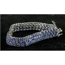 24.0ct Tanzanite Tennis Bracelet CRV $2150