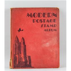 1930s Wold Stamp Collection Album 594 Assorted
