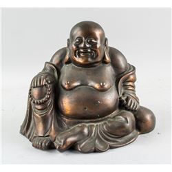 Chinese Bronze Cast Happy Buddha Statue