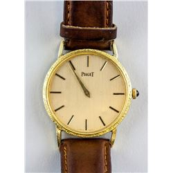 Vintage Fine Swiss Piaget 18K Gold Men's Watch