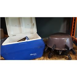 GOTT 50 CAMP COOLER NEW IN THE BOX LANTERN TIRE CHAINS AND PROPANE GRILL