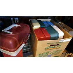 FIVE TACKLE BOXES