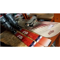 LUMAR SNOWBOARD AND SKIIS W/ BOOTS