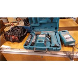 MOTOMASTER BATTERY CHARGER AND MAKITA CORDLESS DRILL IN CASE
