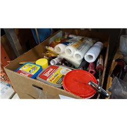 LARGE LOT OF PAINTING SUPPLIES