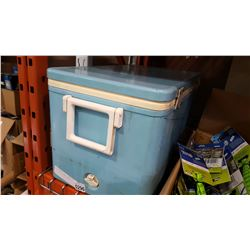 BLUE METAL COLEMAN COOLER