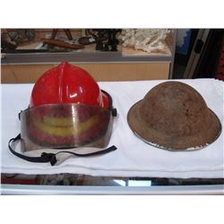 METAL MILITARY HELMET AND FIREFIGHTERS HELMET WITH VISOR