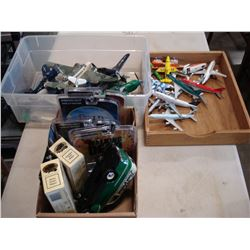 LOT OF AIRPLANE MODELS, AND METAL PLANES AND CARS