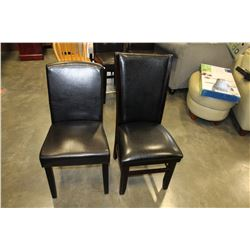 2 LEATHER DINING CHAIRS