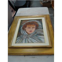 FRAMED OIL ON BOARD - ANTHOHIO CARUSO