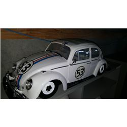 VINTAGE HERBIE THE LOVE BUG RC VEHICLE NO CONTROLLER
