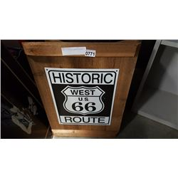 ROUTE 66 ADVERTISEMENT MOUNTED