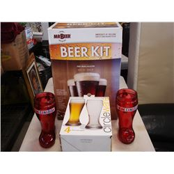 BEER MAKING KIT W/ BEER GLASSES