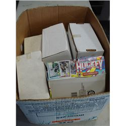 BOX OF HOCKEY CARDS AND FULL BOX OF UNOPENED PACKS 91/92 TO 2011