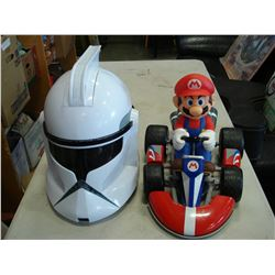 MARIO RC AND STORMTROOPER HELMET