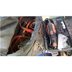 CASED JOBMATE DREMEL AND BOOSTER CABLES