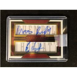 MATT PUEMPEL/ BO HORVAT AUTOGRAPHED CLEAR CHOICES ANTROLOGY HOCKEY CARD