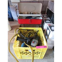 Angle Grinder, Jump Cables,  Toolbox & Heater