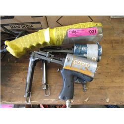 2 Stanley Air Staplers & Work Light