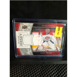 CAREY PRICE 2013-14 UD GAME JERSEY