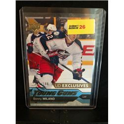 SONNY MILANO 2016-17 YOUNG GUNS UD EXCLUSIVES 080/100 SERIES 1
