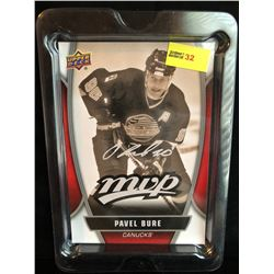 PAVEL BURE 2013-14 MVP UD SERIES 1 OVERSIZED CARD SILVER SCRIPT